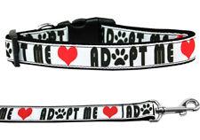 Mirage Adopt Me Nylon Dog Collars and Leash Combo