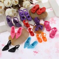 20pcs 10 Pairs Mixed High Heel Shoes For Barbie 29cm Doll Clothes Accessories