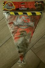 Jurassic Park Birthday Party 12 foot Flag Banner NEW IN PACKAGE