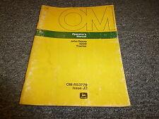 John Deere 4230 Tractor Crawler Dozer Owner Operator Manual Omr53779