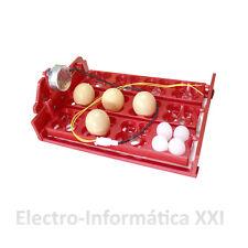 Bandeja de Volteo Automatico 12 Huevos Grandes 48 Pequeños Motor Lento 24/72H.