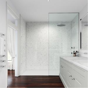 Shower Wall Panel White GALAXY Wet Wall Splashpanel UK's STRONGEST PVC BOARDS