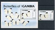 Gambia 543 + Block 11 postfrisch / Schmetterlinge ........................1/3839
