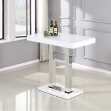 Rectangular White High Gloss Bar Table