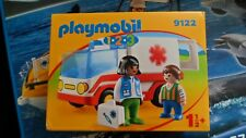PLAYMOBIL 123  9122 RESCUE AMBULANCE *BNIB*