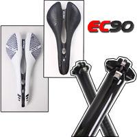EC90 MTB Bicycle Carbon Road Fiets Zadel Hollo Saddle &MTN Road Bike Seatpost