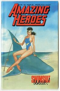 Amazing Heroes #115 NM 9.4 white pages  Wonder Woman Swimsuit issue  1987