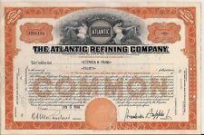 Stock certificate Atlantic Refining Company 1954 w/ assignment document