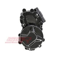 BMW S1000RR S1000R S1000XR Left Side Clutch Engine Cover in Twill Carbon Fiber