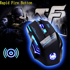 2016 Zelotes LED Optical 2400 DPI Wireless Gaming Mouse Mice Rapid Fire Button