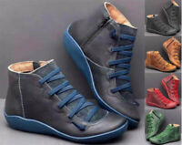 Women Ankle Boots Arch Support Suede Stitch Winter Shoes Flat Heals loafers us