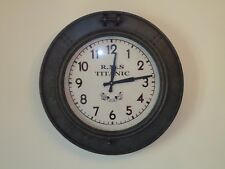 Titanic Ship Port Hole Clock Metal A Very Nice Looking & Very Contemporary/Gift