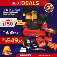 Hilti Sf 10W-A18 Cordless Drill Driver, 2 Batteries, Free Bits, More, Fast Ship