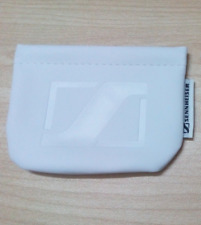 Leather Headphone/Earphone white Pouch Case For Sennheiser CX300 CX400ii MM70i