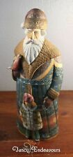 """14"""" G. DeBrekht Wood Carved and Handpainted Russian Santa Claus 77/100 Limited"""