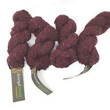 Tahki Donegal Tweed Homespun Yarn Lot Of 4 Wine Color 0874 Dye Lot G245 Wool