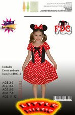 Minnie Mouse Style Mini Mouse Girls Fancy Dress Costume