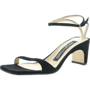Sergio Rossi Womens Black Suede Dress Sandals Shoes 36 Medium (B,M) BHFO 4658