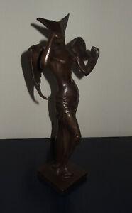 Rare Surreal Bronze Sculpture, Angel, signed, Salvador Dali with COA & docs.
