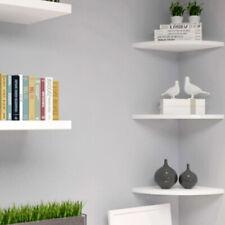 3 Boden Eckregal Wandregal Wandboard Bücherregal Hängeregal Schweberegal Weiß