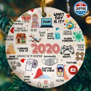 2020 Christmas Ornament Annual Events Quarantine Family Gifts Masks