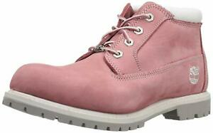 Timberland Womens Nellie NuBuck Round Toe Ankle Working Boots, Pink, Size 6.0