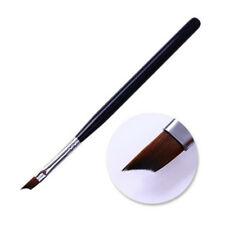 Acrylic Black French Nail Brush UV Gel Painting Brush Handle Manicure Pen Tool T