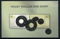 2013 Holey Dollars & Dump - MUH Embossed Mini Sheet