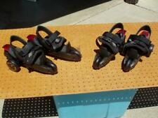 2 Cardiff Skate Youth S3 Step on Strap in Skate Away Skates Black Red Good Cond