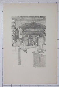 1915 OXFORD OXFORDSHIRE Duke Humphrey's Library Bodleian Sketch By Fred Richards