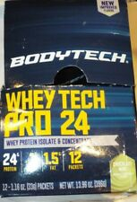 BodyTech Whey Tech Pro 24 Protein Isolate + Concentrate - 12 Packets   Choc/Mint