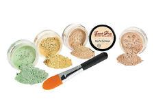 Concealer & Corrector Kit W/ Brush Mineral Makeup Set Bare Skin Matte Powder