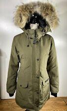 Canada Goose Trillium Standard Fit Down Parka / Coyote Fur, Khaki Womens S