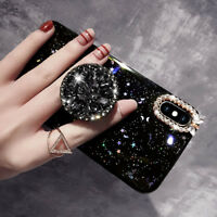 Luxury Bling Diamond Stand Holder Glitter Case Cover for iPhone 11 Pro Max 6 7 8