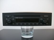 Audi CD Radio Concert II 2 mit Chromleiste für Audi A4 8E   *** NEUZUSTAND ***