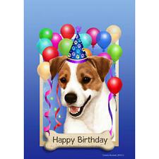 Jack Russell Terrier Happy Birthday Flag