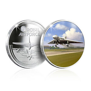 RAF Memorabilia Collection Silver Plated Coin Medal - Vulcan The First Flight