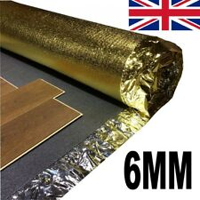 6mm Acoustic Underlay For Laminate & Wood Flooring - 4 Rolls + FREE VAPOUR TAPE!
