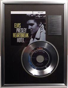 "ELVIS PRESLEY - Heartbreak Hotel 7"" Platin Schallplatte RCA Record ( goldene )"