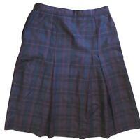 Pleated Plaid Academia Geek Grunge Skirt
