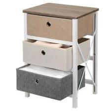 3-Drawer MDF Nightstands, Bedroom Storage Drawer Dresser Organizer