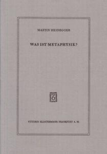 Was ist Metaphysik?|Martin Heidegger|Broschiertes Buch|Deutsch