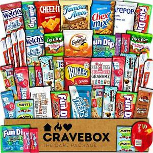 CraveBox Care Package (45 Count) Snacks Cookies Bars Chips Candy Ultimate Variet