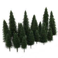 40pcs Miniature Scenery Model Pine Trees Deep Green Pines For HO O N Z Scale