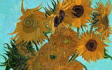 Stampa incorniciata-GIRASOLI Vincent Van Gogh (PICTURE POSTER REPLICA pittura arte)