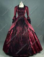 Renaissance Marie Antoinette Vintage Lace Prom Dress Steampunk Clothing N 142