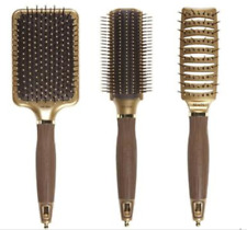 3x Olivia Garden NanoThermic Styler Hair Brushes (Row, Paddle, Vent) **NEW**