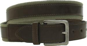 goodfellow Mens Web Belt with Faux Leather Overlay