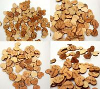 Wedding Table Confetti/Decorations Vintage Small Wooden Hearts 15mmx12mm Craft