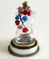 Vintage Schiaparelli Shocking Torso Body Perfume w Gorgeous Flowers (Empty)